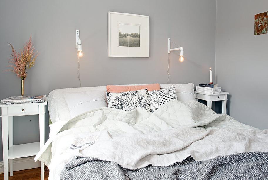 Scandinavian style bedroom paperblog - Apliques habitacion ...