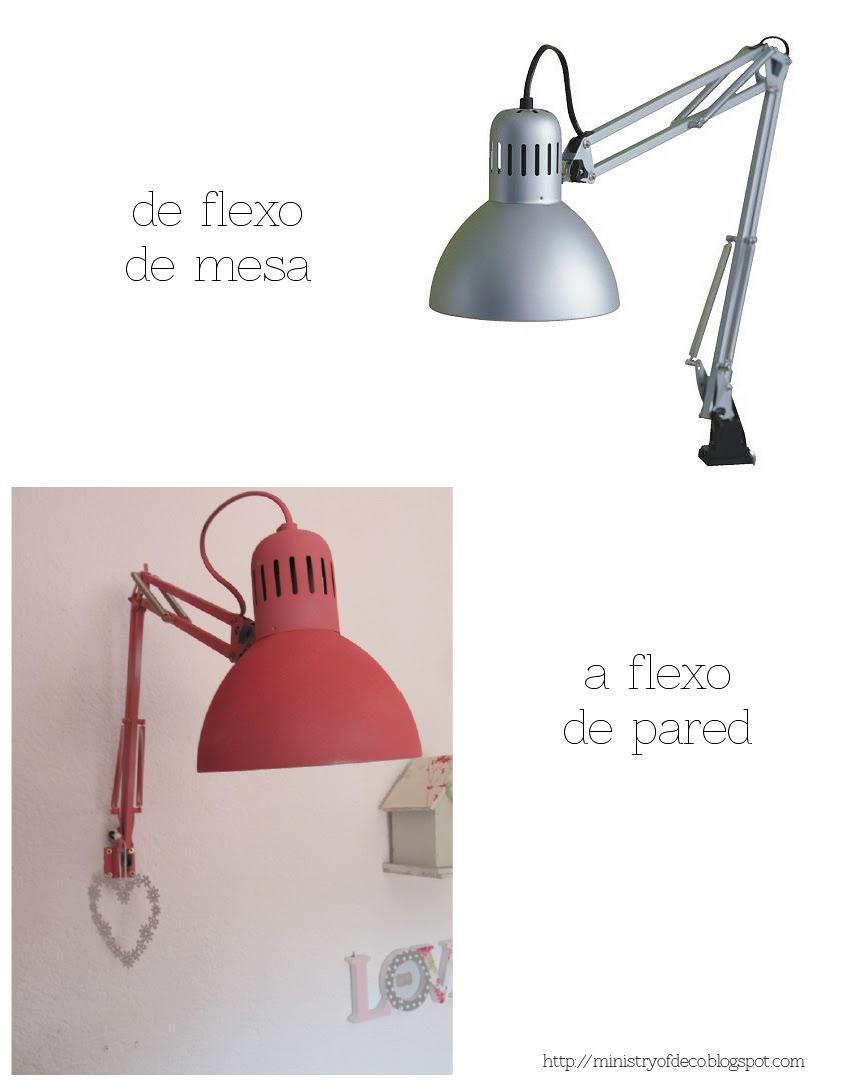 Deconi os l mpara diy con un flexo de ikea paperblog - Apliques de pared dormitorio ...