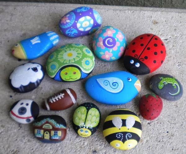 Piedras pintadas a mano para el jardín - Paperblog