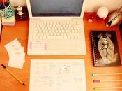 Organizador semanal escritorio notas