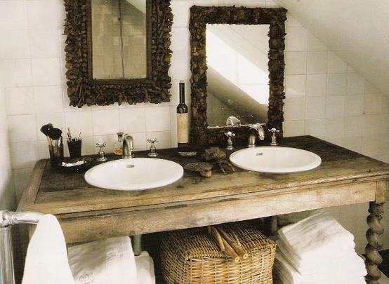 Restaurando muebles para el baño