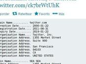 Registros Whois Twitter, York Times Huffington Post alterados hackers