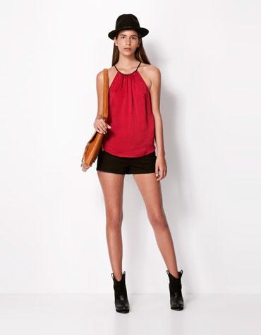 Goteo De Compras Blusa Roja De Bershka Paperblog