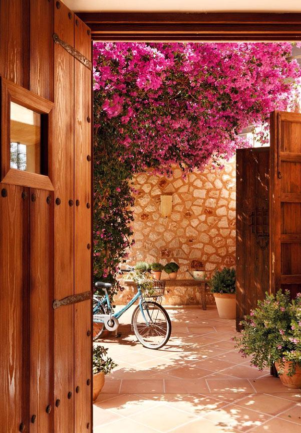 Un porche decorado con buganvillas paperblog - Fotos de buganvillas ...