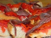 Montadito anchoa pimiento rojo