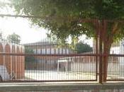 Plaza toros instalada ante colegio público.