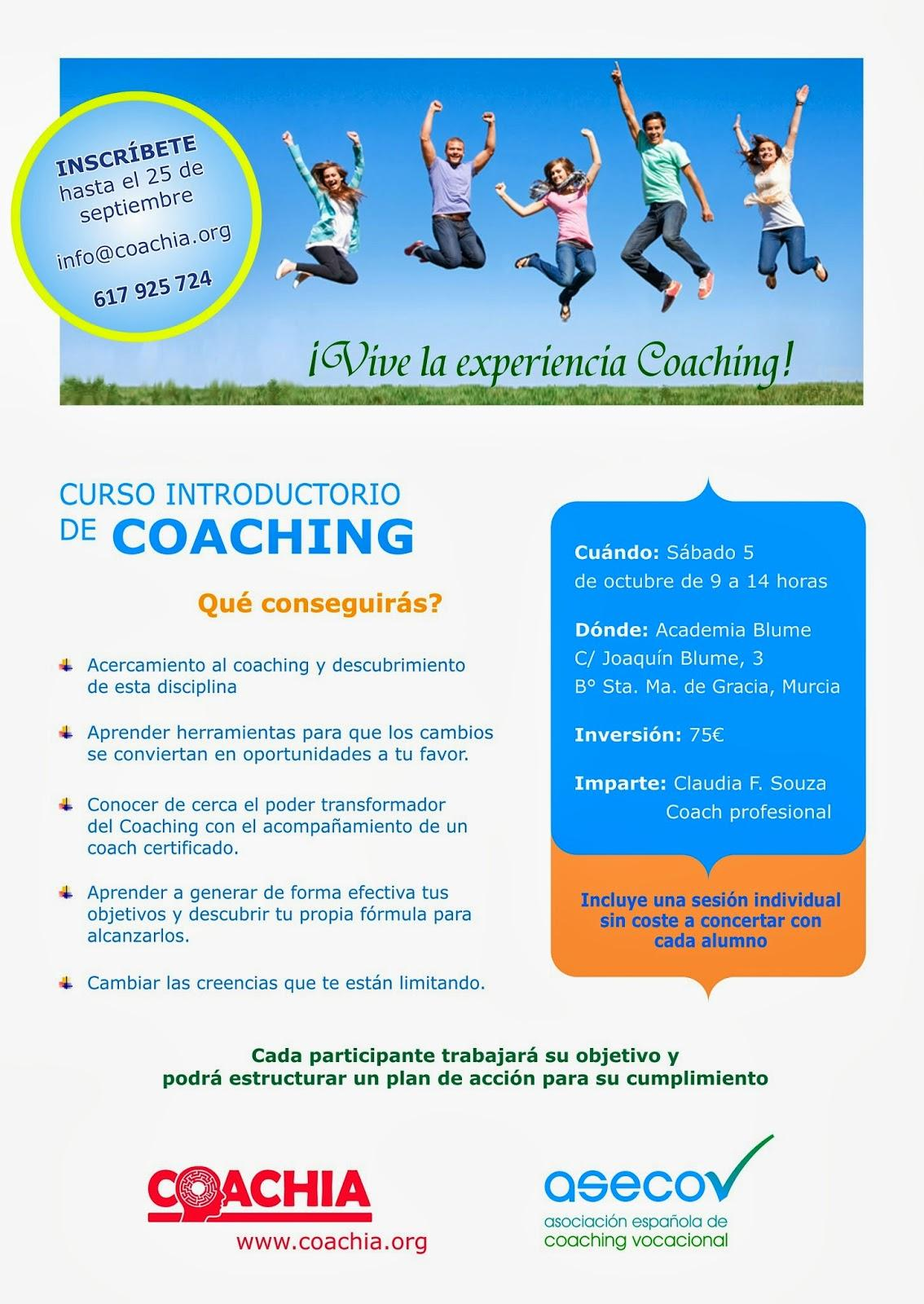 Curso Introductorio de Coaching en Murcia