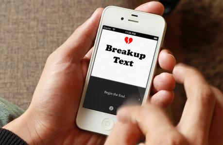 BreakUp Text aplicación