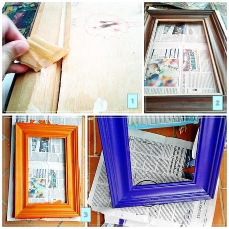 DIY Marco reciclado para colgar bisutería