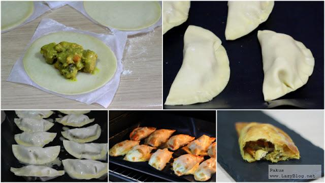 Empanadillas thai de pollo al curry. Receta