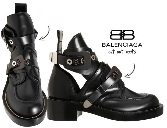 Zapatos cut out-Balenciaga