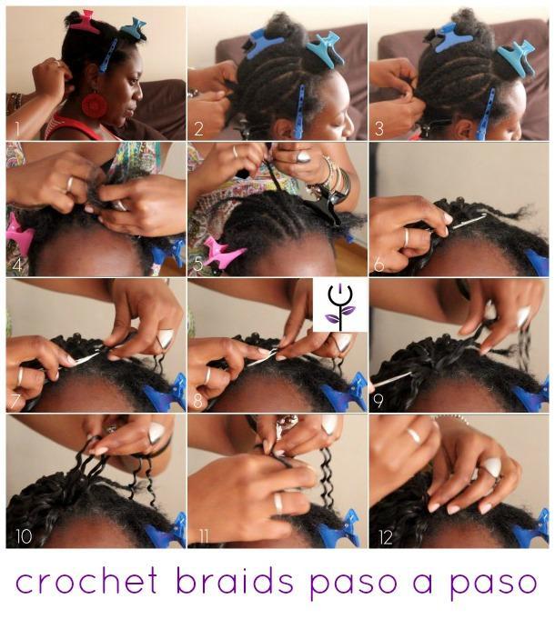Crochet braids paso a paso