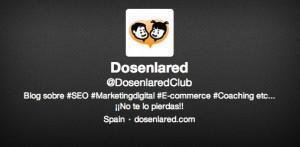 Hashtags de la cuenta de Twitter de Dos en la Red