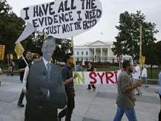 pueblo EEUU opone Siria atacada