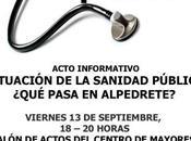 Acto Informativo sobre situación sanidad pública, ¿qué pasa Alpedrete?