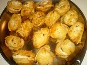 Bocados manzana queso cabra horneados