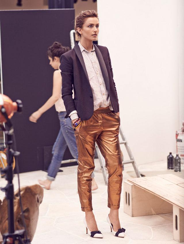 The Chloé golden lamé pants from Spring/Summer 2009 ...