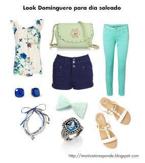 look para dia soleado con shorts blusa sandaleas y accesorios