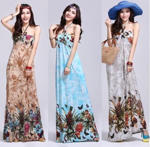 63c6d3375f Mis puntadas de mujer  Modelos de vestido largo para playa