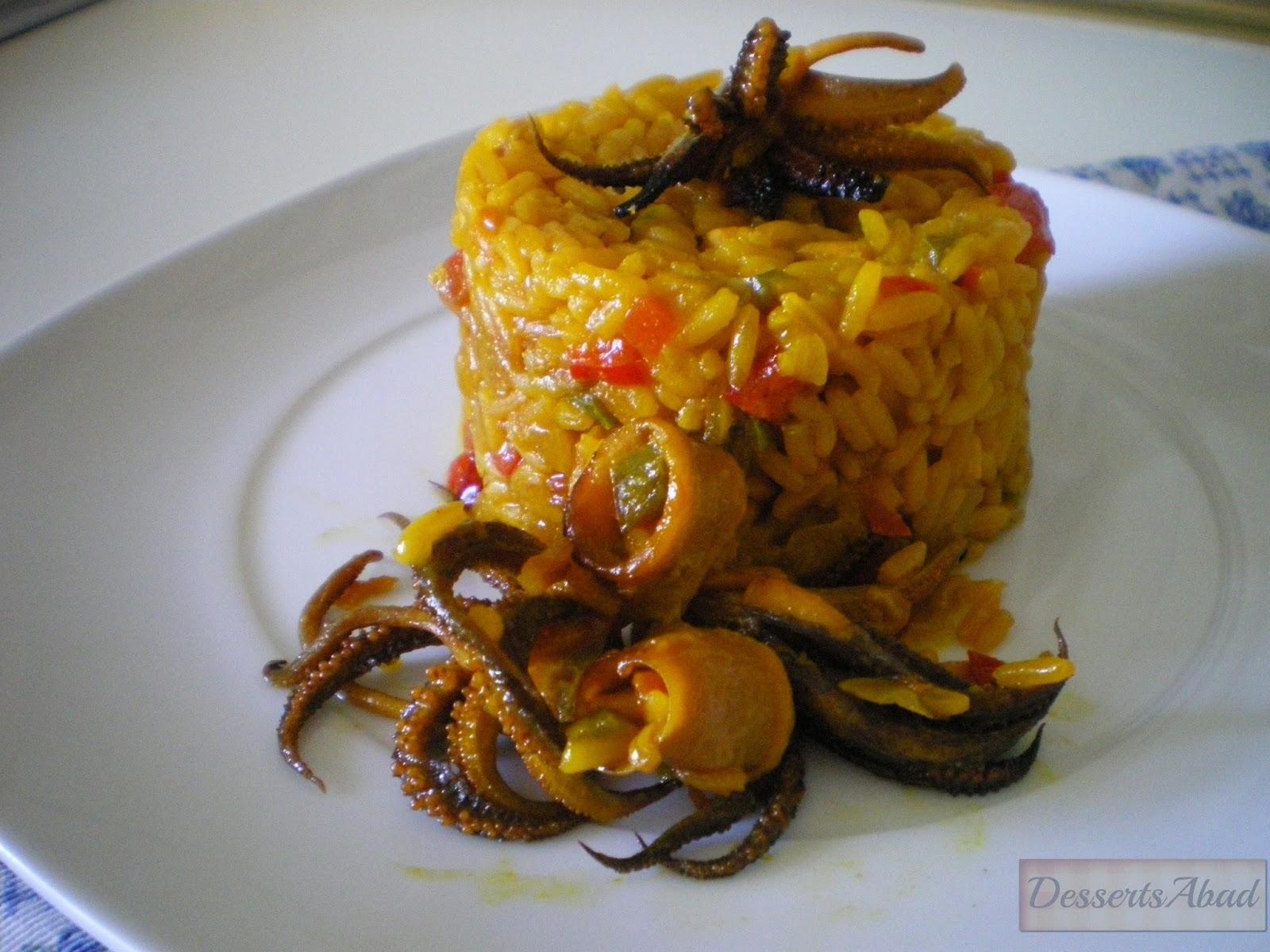 Arroz con calamares paperblog for Cocinar calamares pequenos