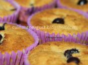 Muffins arándanos frescos