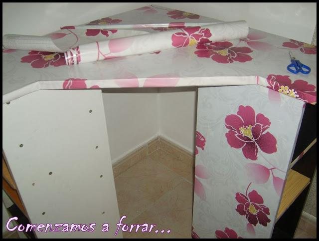 Diy tocador 1 parte paperblog - Papel para forrar muebles leroy merlin ...