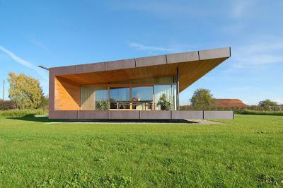 casa minimalista en el campo paperblog