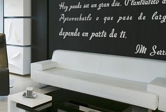 Pon letra a tus paredes con vinilo decorativo paperblog for Vinilos decorativos letras