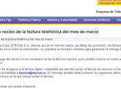 Carta abierta ETECSA, Facturas telefónicas sobres privacidad