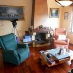 salon chimenea casa Fano