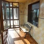 Terraza cubierta casa Fano