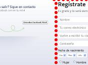 Como registrarse facebook?