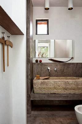 ideas para lavabos rusticos paperblog