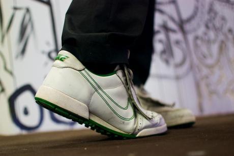 Chu Uroz con sus Nike Dunk Low SB Premium Golf Green
