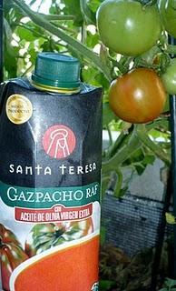 Gazpacho con frutas de verano