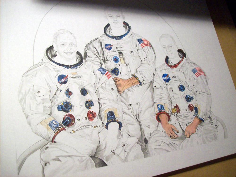Dibujo Del Apolo Xi Drawing Of Apollo 11 Paperblog