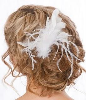 Como llevar tocados de plumas