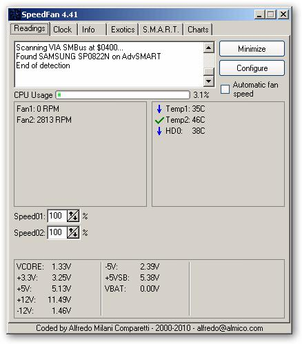 SpeedFan v.4.41 para Windows (x64 incluido)