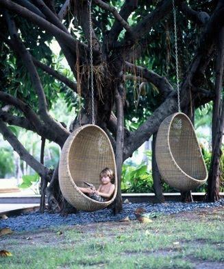 Hamacas y sillas colgantes paperblog for Sillas colgantes para jardin
