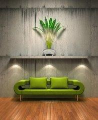 verde y gris decoracion