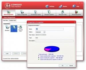Restauracion de sistema con Comodo Time Machine