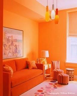 El color en la decoración: Los colores cálidos