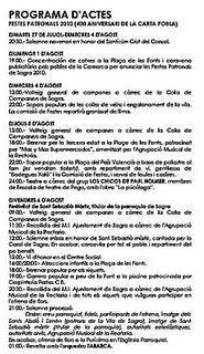 Información gracias a José García de SagraFiestas Patrona...