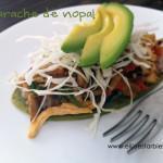 Receta: Huarache de nopal