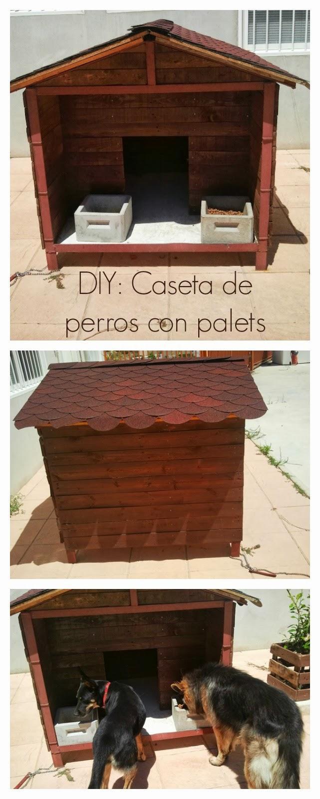 Diy c mo hacer una caseta de perros con palets paperblog for Como hacer una caseta de jardin