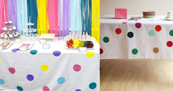 Ideas para la decoración de fiestas puntos - Paperblog