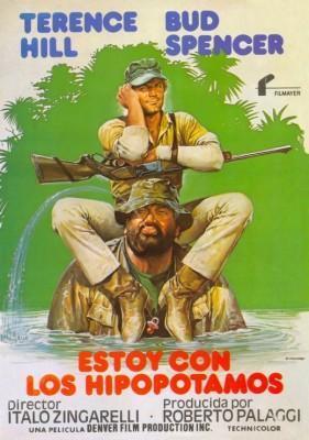 Estoy con los Hipopotamos 1979 Bud Spencer y Terence Hill poster