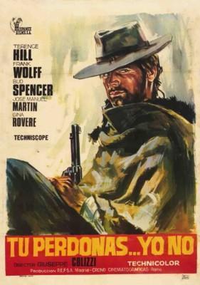 Tu perdonas yo no 1967 Bud Spencer y Terence Hill poster