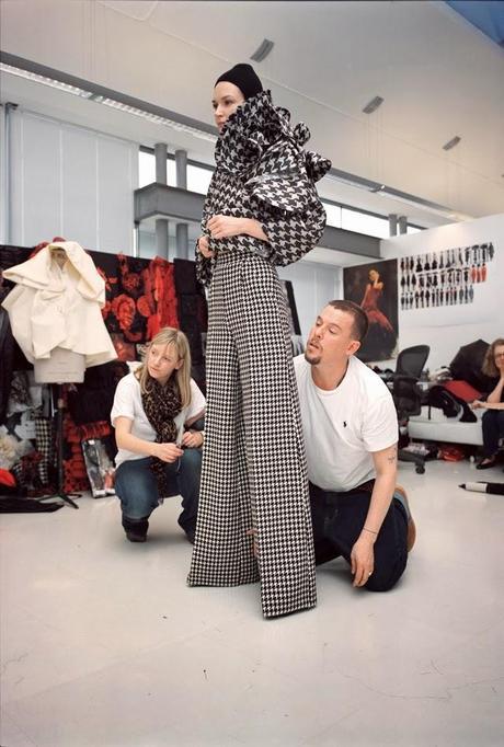Alexander McQueen: Working process, by Nick Waplington
