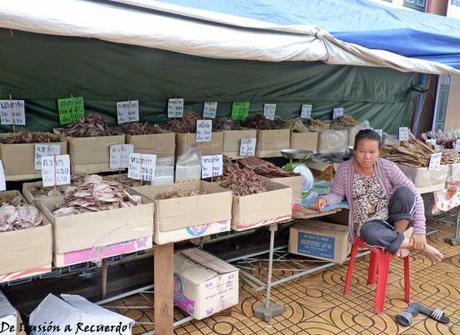 Puesto de pescado Bangkok